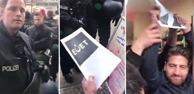 Alman polisi 'Evet' diyen gurbetçilerin dükkanını bastı!