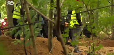 Almanlar acımıyor! Orman maden için yok edilecek