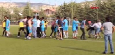 Amatör takımların hazırlık maçında kavga