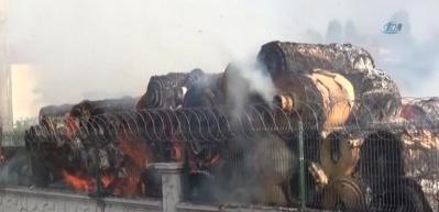 Ambalaj fabrikasında çıkan yangın 2 saatte söndürülebildi