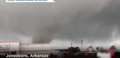 ABD'yi önce Koronavirüs sonra Tornado fırtınası vurdu
