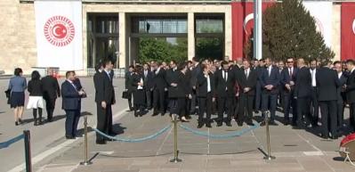 Anıtkabir'deki 23 Nisan töreni başladı