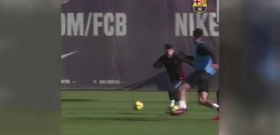 Antrenmanda Lionel Messi şov...