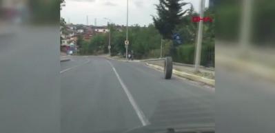 Araba tekerleği küçük çocuğa böyle çarptı