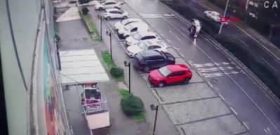 Araçtaki köpek sürücünün üzerine atlayınca kazaya neden oldu