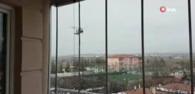 Askeri helikopter Çorum'da zorunlu iniş yaptı