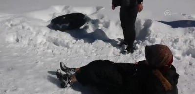 Ayder Yaylası'nda kar yağışı sonrasında güzel görüntüler oluştu