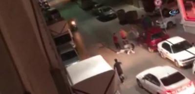 Bahçelievler'de bir kadın erkekleri döverek hastanelik etti!