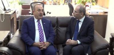 Bakan Çavuşoğlu, Safadi ile bir araya geldi