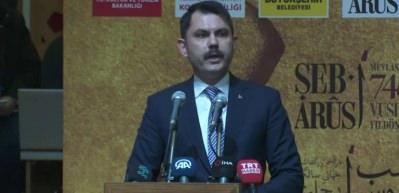 Bakan Kurum, Şeb-i Arus törenlerinin açılışında konuştu