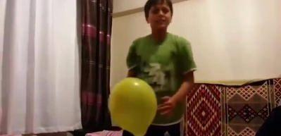 Balona rövaşata çeken adama rakip çıktı!