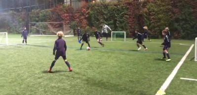 Barcelona U10 antrenmanı izleyenleri mest etti