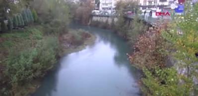 Bartın Irmağı siyah akıyor