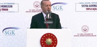 """Başkan Erdoğan: """"17 yılda emekli maaşlarını 4 kata varan oranlarda artırdık"""""""