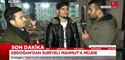 Başkan Erdoğan müjdeyi vermişti! Suriyeli Mahmud canlı yayında öğrendi