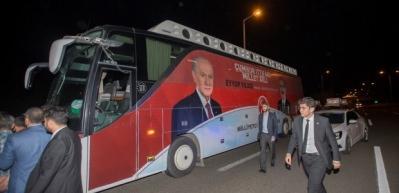 Başkent'te MHP konvoyuna saldırı!