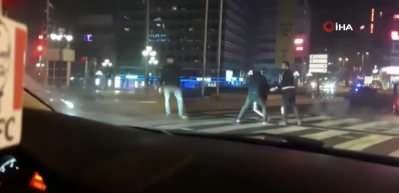 Başkent'te 'yarış teklifimi reddettin' kavgası kamerada!