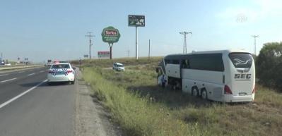 Başkentte yolcu otobüsü yoldan çıktı: 11 yaralı