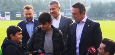 'Ben Galatasaraylıyım' diyen çocuğa Ali Koç'tan cevap