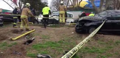 Beyazıt'ta trafik kazası