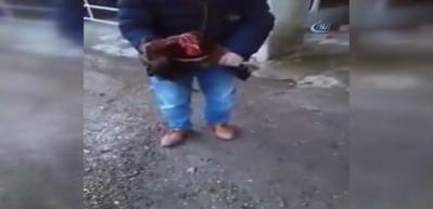 Bıçak korkusu horoza 'Anne' dedirtti