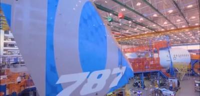 Boeing 787 Dreamliner'in üretiminden görüntüler