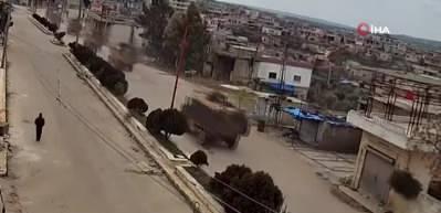 Bölgeden sıcak görüntüler! TSK konvoyu İdlib'e girdi