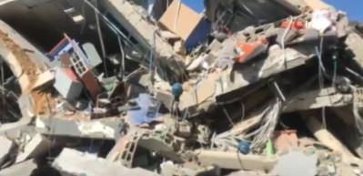 Bombalanan 'Al-Aksa' kanalının enkazı görüntülendi