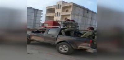 Bordo bereliler Afrin merkezine böyle girdi!