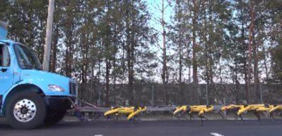 Boston Dynamics'in robotları kamyon çekti