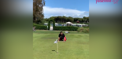 Bülent Serttaş'tan golf performansı!