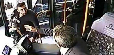 Burak Yılmaz'ın otobüs şoförüyle kavga anı kamerada