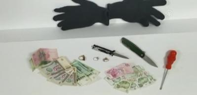 Aranan hükümlü hırsızlık yaparken suçüstü yakalandı