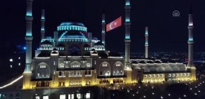 Çamlıca Camisi'nde Berat Kandili! On binler akın etti