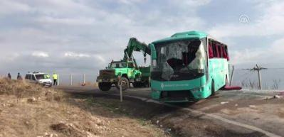 Çankırı'da otobüs kazası: Onlarca yaralı