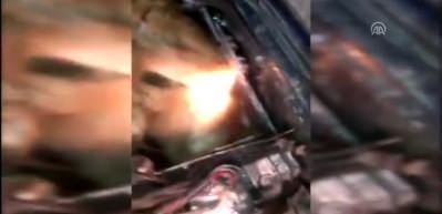 Canlı danaları otomobilin motorunda yurda sokmaya çalıştılar