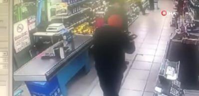 Çekmeköy'de 10 saniyede market soygunu kamerada