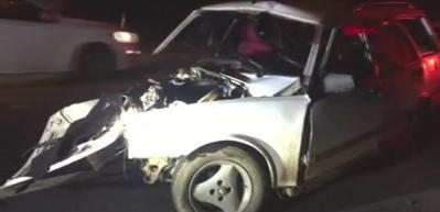 Çerkezköy'de iki otomobil çarpıştı: 1 ölü, 3 yaralı