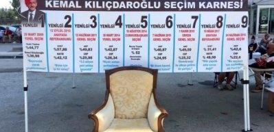 """CHP önünde """"koltuk"""" eylemi"""