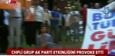 CHP'lilerden AK Parti etkinliğine çirkin provokasyon