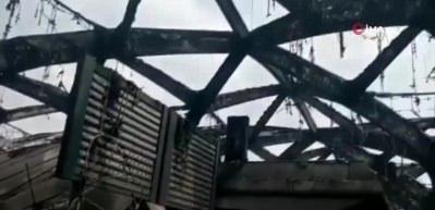 Cidde'deki hızlı tren istasyonundaki hasar görüntülendi