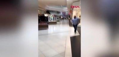 Cip alışveriş merkezine girdi