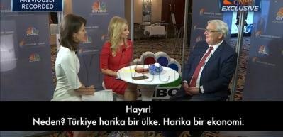 CNBC sunucusunun provokatif 'Türkiye' sorusuna tokat gibi yanıt