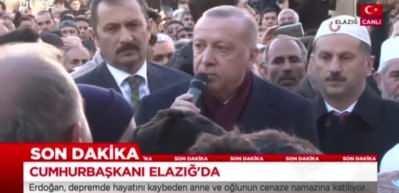 Cumhurbaşkanı Erdoğan Elazığ'da: Cenaze törenine katıldı