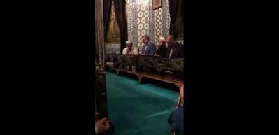 Cumhurbaşkanı Erdoğan Eyüp Sultan'da dua etti