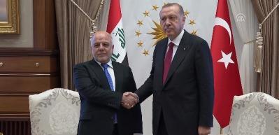 Cumhurbaşkanı Erdoğan, Irak Başbakanı El-İbadi'yi kabul etti