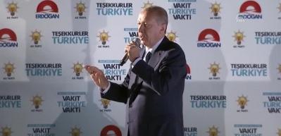 Cumhurbaşkanı Erdoğan: 'Kazanan Türk milleti olmuştur'