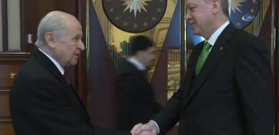 Cumhurbaşkanı Erdoğan, MHP Lideri Bahçeli'yi kabul etti