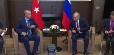 Cumhurbaşkanı Erdoğan, Putin'le Soçi'de buluştu