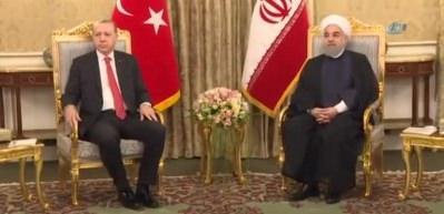 Cumhurbaşkanı Erdoğan, Ruhani İle Görüştü